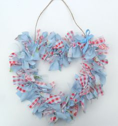 """Today we have a very lovely """"How to make a Rag Heart Wreath"""" guest post from Mary from Mary Poppins Home Sweet Home. As some of you may know there a some Mummy And Daddy (the MADs) Blogging awards going on the UK. I was very excited and chuffed to see that I have been …"""