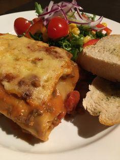 Kokkejævel – Hjemmelaget lasagne Lasagna, Pasta, Chicken, Meat, Ethnic Recipes, Food, Red Peppers, Lasagne, Essen