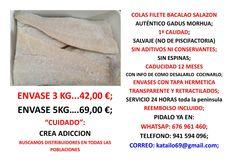 COLAS FILETE sin espinas de unos 25 cms del posiblemente MEJOR bacalao de España