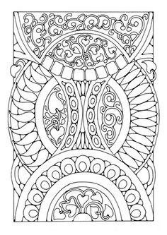 Coloring page mandala a03