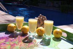 Lemon Ginger Shots - 3 lemons 1 1/2 inch piece of ginger - Shot this in the morning to stimulate and awaken the body, to boost the immune system, flush toxins and accelerate weight loss! #RecipeOfTheDay #TheEarthDiet