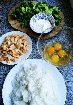 ZAPIEKANKA BROKUŁOWA Z RYŻEM I KURCZAKIEM - Jemy i nie tyjemy. Kuchnia według Sylwii Cantaloupe, Fruit, Food, Pies, Diet, Eten, Meals