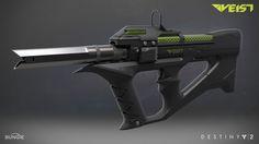 Destiny 2 | Veist Submachine Gun, Chelsea Velazquez on ArtStation at https://www.artstation.com/artwork/61er6