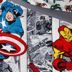 Twin Marvel Avengers Comic Cool Bed In A Bag : Target Marvel Bedding, Marvel Avengers Comics, Bed In A Bag, Twin Comforter, Fun Comics, Cool Beds, Black Widow, Colour Images, Pillow Shams