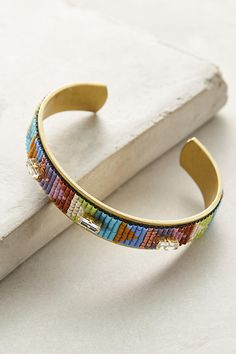 Slide View: 1: Continuum Beaded Cuff Bracelet