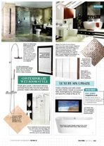 Real Homes – 6 Looks to Update your Bathroom – July 2013