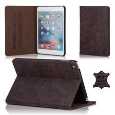 32nd® Premium-Lederbuch Brieftasche Tasche für Apple iPad 2 3 4, hergestellt aus Luxus italienischen aus echtem leder - Dunkelbraun, 44,99 Euro