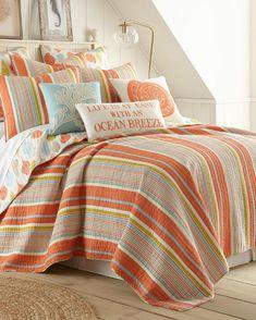 Striped Coastal Luxury Quilt