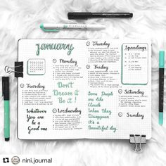 "2,244 Likes, 11 Comments - Bullet Journal features (@bujobeauties) on Instagram: ""Love this colour that @nini.journal used in their spread …"""