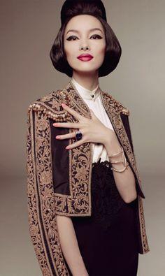 Fei+Fei+Sun+Vogue+Italia+2 Vintage Inspired Fashion   The Fabulous Fei Fei Sun
