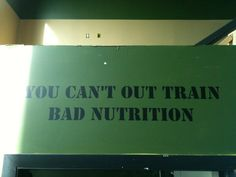 CrossFit You can't out train bad nutrition