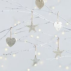 Antiqued Stars And Hearts Set Of 6 | The White Company