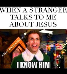 We are sharing Jesus Memes in honor of the humor God gave us. These funny memes are apart of our lent series where we are exploring faith (and humor! Jesus Humor, Jesus Funny, Bible Humor, Jesus Jokes, Elf Memes, Funny Christian Memes, Funny Christian Pictures, Church Humor, Catholic Memes