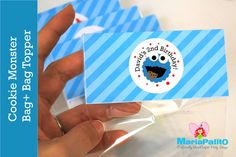 New to Mariapalito on Etsy: Cookie Monster Treat Bags Cookie Monster  Goodie bags ready for your party  Personalized Bag Toppers  A1047 (13.00 USD)