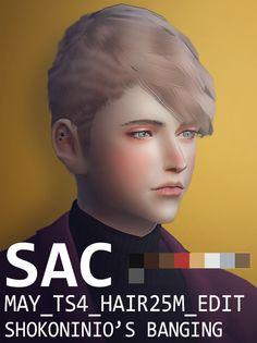 MAY HAIR 25M EDIT at SAC • Sims 4 Updates