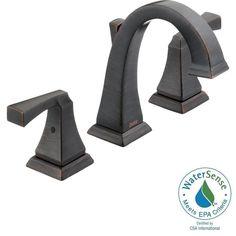 Delta Dryden 8 in. Widespread 2-Handle High-Arc Bathroom Faucet in Venetian Bronze-3551LF-RB - The Home Depot - $374.22
