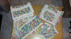 Crochet Scarf, Fingerless Gloves, Earwarmer with matching carrying bag.