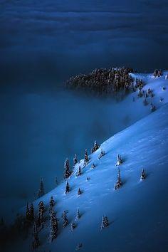 snow landscape #mountains