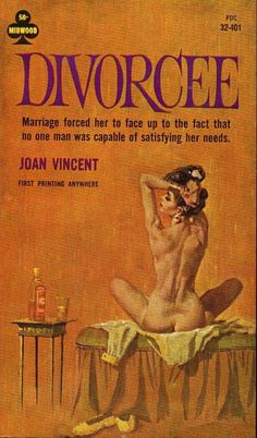 Divorcee - Giclée Canvas Print of a Vintage Pulp Paperback Cover