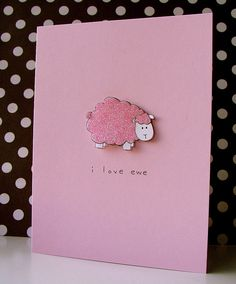 i love ewe by Lucy Abrams, via Flickr
