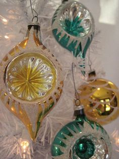 Vintage Glass Indented Christmas Holiday by ThisThatAndChristmas