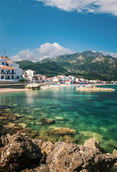 Kokkari village, Samos island, Greece