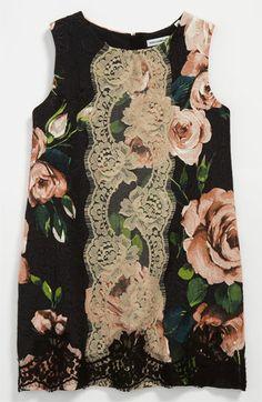 Dolce Floral Jacquard Dress (Little Girls & Big Girls) available at #Nordstrom