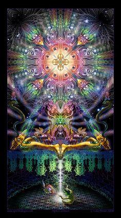 Backdrop Dream Centauri Wandbehang x Hippie Goa Tuch Psy Art Kunst Psychedelic Art, Psy Art, Alex Grey, Mystique, Visionary Art, Fractal Art, Sacred Geometry, Fantasy Art, Digital Art