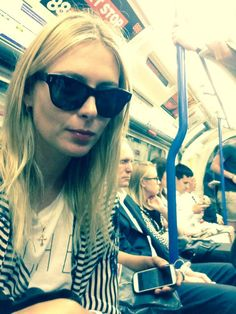Maria's Twitter: When in London Town, this is how we riiiide....occasionally :)