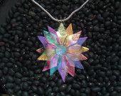 Dichroic Fused Glass Flower/Sunburst
