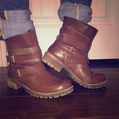 Brown Combat boots Brown combat boots HeartSoul Shoes Ankle Boots & Booties