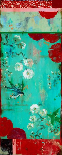 Kathe Fraga paintings.  http://www.kathefraga.com acrylic on frescoed canvas. Inspired by vintage Paris and chinoiserie ancienne.