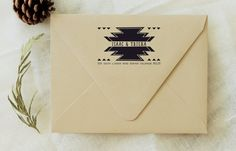 Tribal Print - Custom Wood Return Address Stamp - Wedding Stamp - Housewarming Gift - Envelopes - Rubber Stamps - Triangle - Wedding Favor