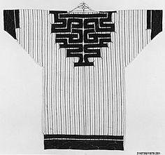 Robe (Ainu).  Date: 19th century. Culture: Japan. Medium: Cotton / Embroidery. Dimensions: 60 x 50 in. (152.40 x 127 cm).