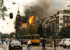 De brand in de Muiderkerk.  In 1989 sloeg het noodlot toe.