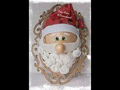 Guirlanda de Natal Papai Noel em Eva - YouTube Christmas Decorations, Christmas Ornaments, Holiday Decor, Dyi Crafts, Youtube, 3d, Facebook, Home Decor, Felt Wreath