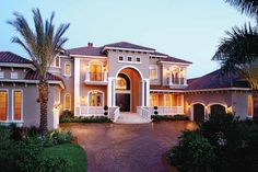 Inspired by the seaside villas of the Renaissance era, Mediterranean house plans take their primary design cues from romantic Italian and Spanish architecture. A perennial favorite in Florida and California, Mediterranean home plans are also well-suited for the open rolling landscapes of the Texas Hill Country and the Midwest prairie states.