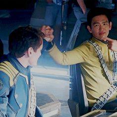 that stuff's illegal Star Trek Gif, Star Trek Cast, Star Trek 2009, Watch Star Trek, Star Trek Movies, Star Trek Voyager, Star Wars, Star Trek Reboot, Star Trek Beyond