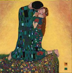 Klimt paintings | oil painting kiss ii by artist gustav klimt paintings id