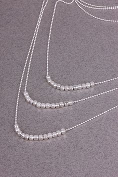 Shlomit Ofir Nuggets Necklace in Silver. Our best selling necklace!!  http://www.shopcloakroom.com/collections/jewelry/products/gold-nugget-necklace