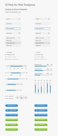 Blue UI Pack - Free PSD
