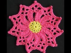 Crochet : Flor # 4 - YouTube