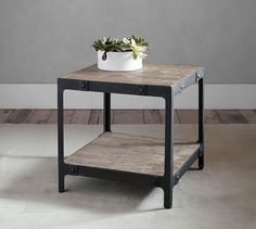 Clint Reclaimed Wood Side Table