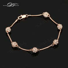 : Buy New Ball Look Cubic Zirconia Paved Charm Bracelet & Bangles Rose Gold Color Fashion Crystal Jewelry For Women Wholesale from Reliable charm bracelet suppliers on DOUBLE FAIR Official Store Crystal Jewelry, Gold Jewelry, Jewelry Accessories, Jewelry Design, Women Jewelry, Jewellery, Jewelry Sets, Cheap Charm Bracelets, Bangle Bracelets