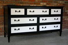 MWRDesignsAtlanta - awesome black and white dresser... sold. But other fine furnishings are in St. Simon's Island at the condo!