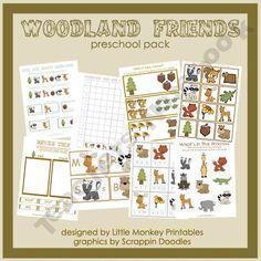 Woodland Friends Preschool Activity Pack