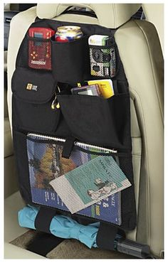 Backseat Organizer for Children - Fits Most Cars, Minivans and SUVs - Travel Car Storage for Kids or Babies in Back Seat - Many Compartments for Toys, Drinks, Files, Electronics - Seatback Protector - Money Back Guarantee Camper Life, Rv Campers, Camper Van, Car Seat Organizer, Car Organizers, E Motor, Baby Equipment, Campervan Interior, Rv Storage