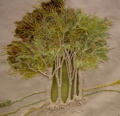 Beautiful embroidered trees!  When I'm a millionaire, I'll devote my spare time to creating works of art like this