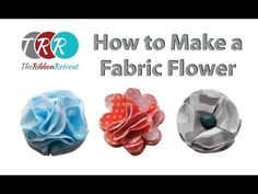 How to Make a Fabric Flower - TheRibbonRetreat.com - YouTube. Using this to make lapel pins for hubby.