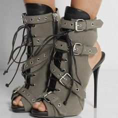 Cheap booties for women, Buy Quality boots peep toe directly from China high heels ankle Suppliers: Women buckle High Heel Ankle Boots Peep Toe Lace Up Booties For Woman Cut-out Gladiator Dress shoes woman Size Free S Peep Toe Ankle Boots, Buckle Ankle Boots, Peep Toe Shoes, Lace Up Booties, High Heel Boots, Heeled Boots, Shoe Boots, High Heels, Shoes Heels